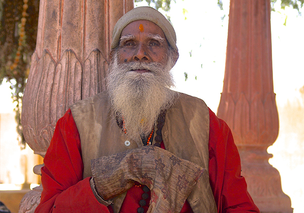 un monde de voyages Inde vieil homme