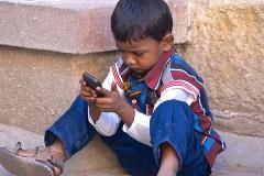un monde de voyages Inde enfant